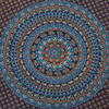 Large Queen Blue Indian Hippie Mandala Tapestry Bedspread Beach Blanket Dorm Bohemian Accent Boho Chic Handmade 5