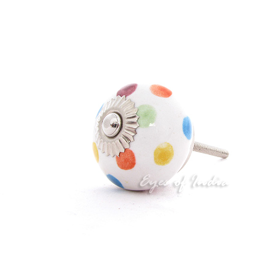 Colorful Dots Ceramic Decorative Shabby Chic Dresser Cabinet Door Cupboard Knob Pulls