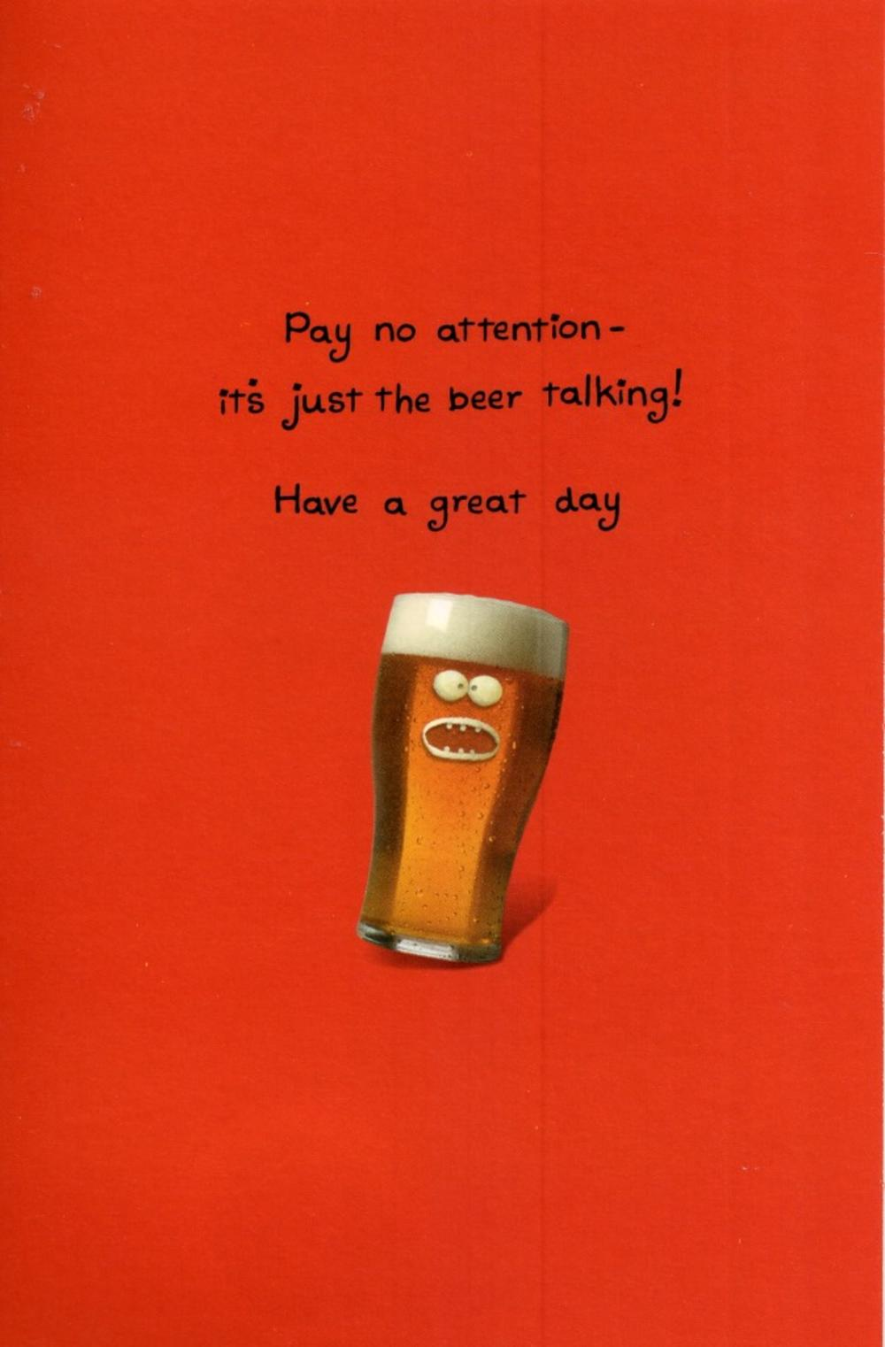 Funny Talking Beer Birthday Card Cards Love Kates