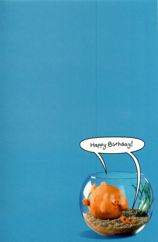 funny goldfish bowl birthday card