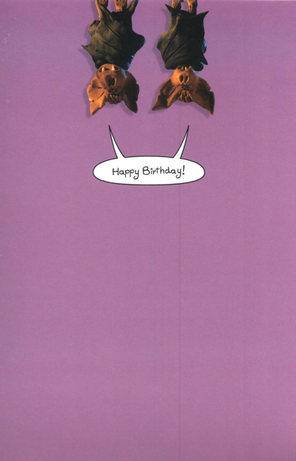 Funny Fear Incontinence Bats Birthday