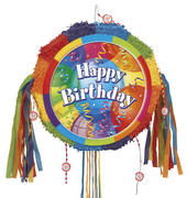 Happy Birthday Pinata Pull Ribbon String Pinatas