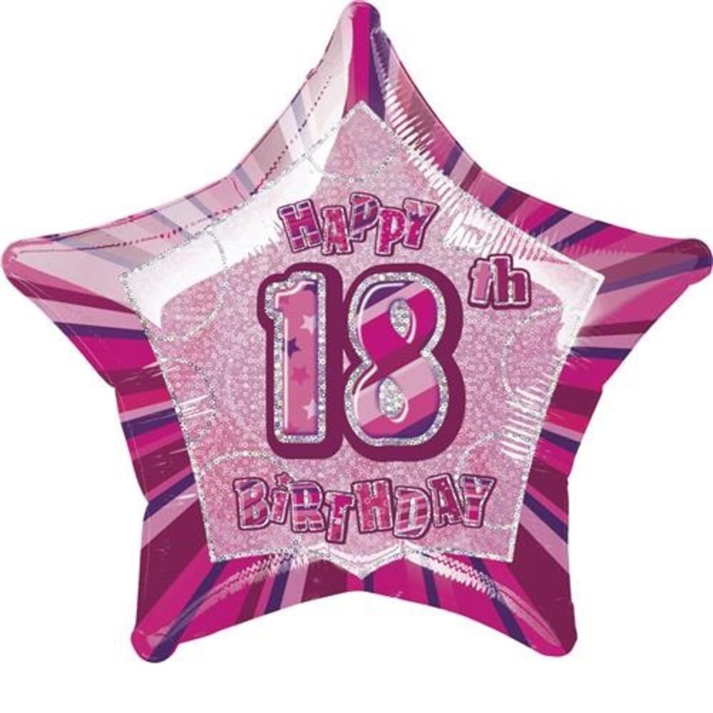 Happy 18th Birthday Prismatic Foil Helium Balloon Thumbnail 1