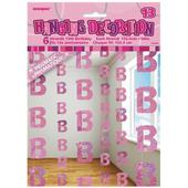 Pink Glitz 13th Birthday Hanging Decorations