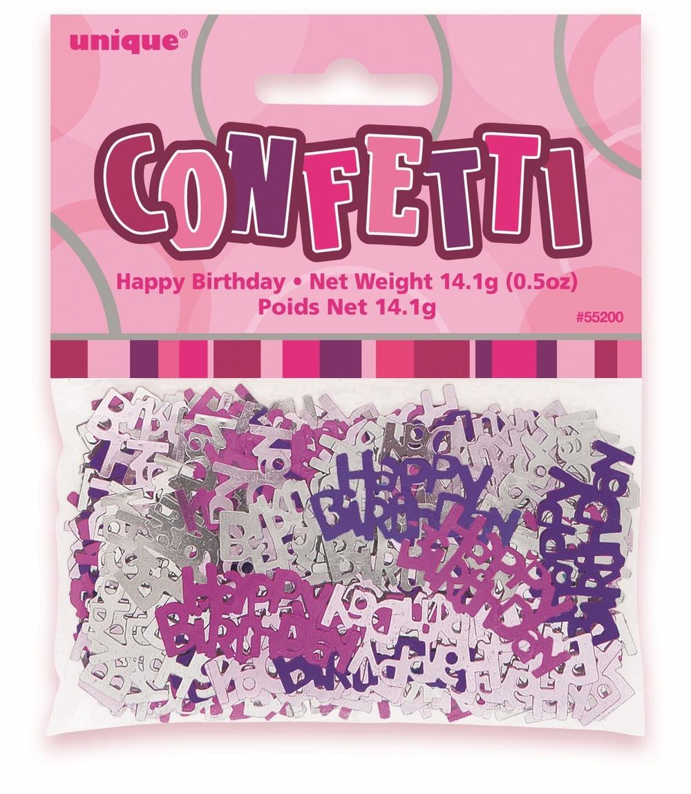 Pink Glitz Happy Birthday Table Confetti