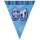 Blue Glitz 90 Flag Banner