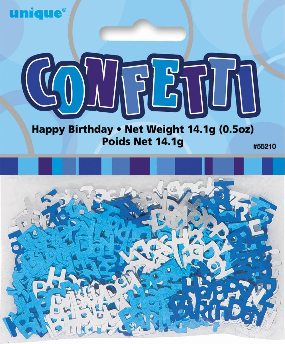 Blue Glitz Happy Birthday Table Confetti