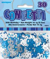 Blue Glitz Age 30 Birthday Table Confetti
