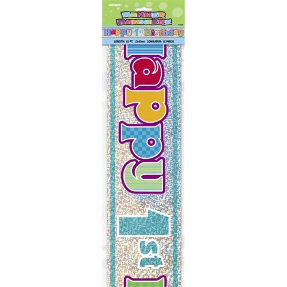 Happy 1st Birthday 12ft Party Banner