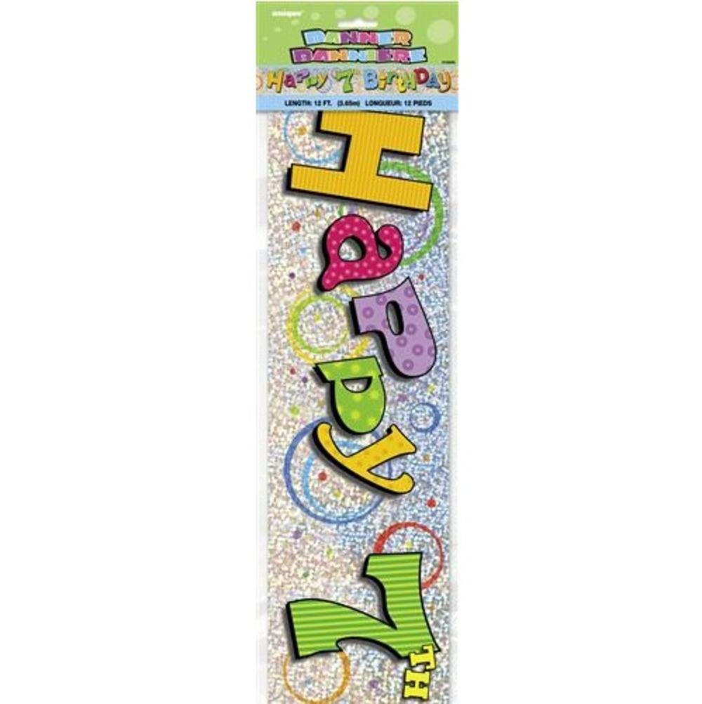 Happy 7th Birthday 12ft Party Banner