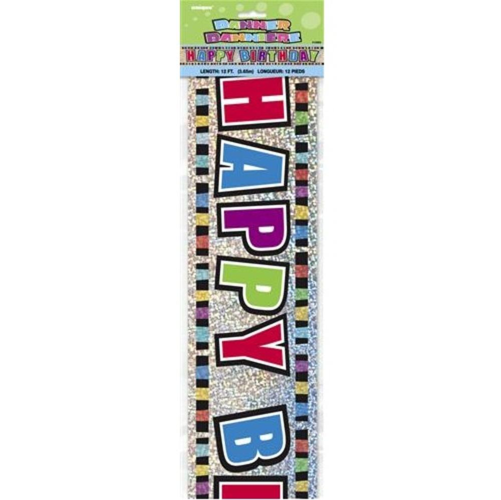 Happy Birthday 12ft Party Banner