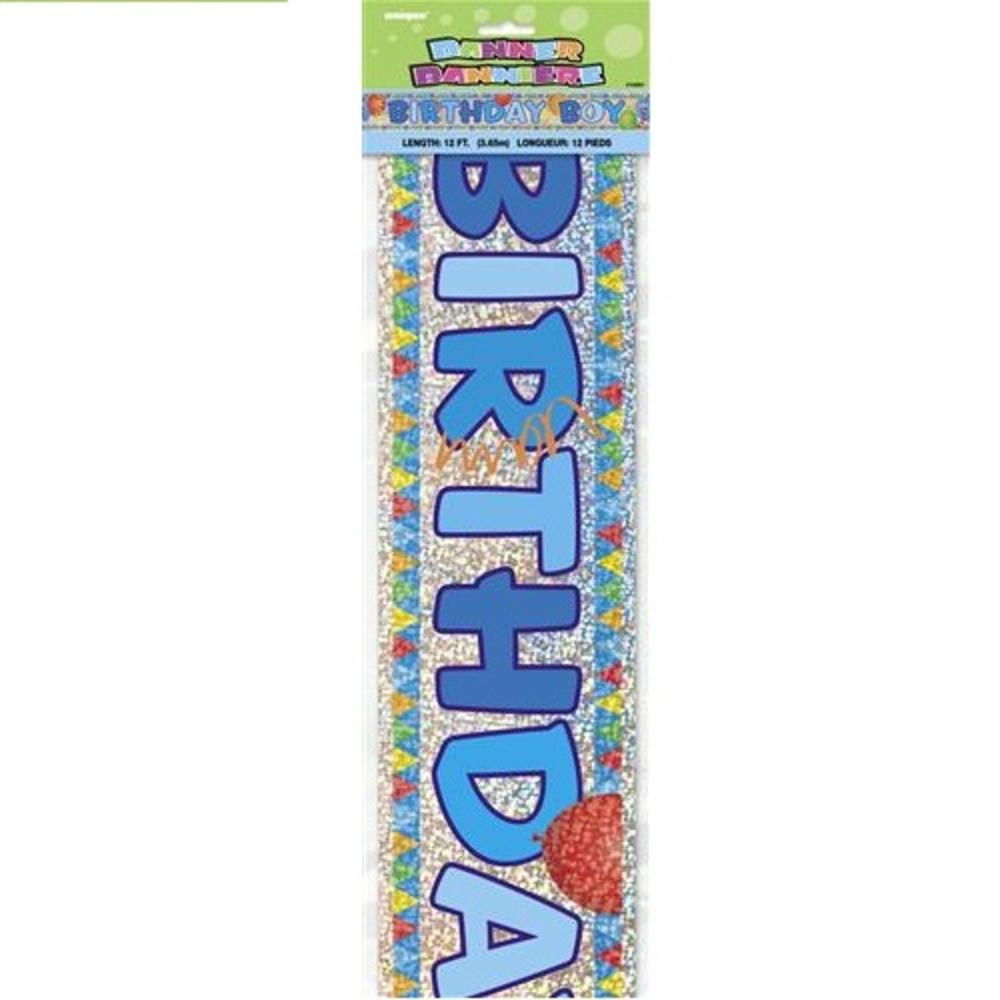 Birthday Boy 12ft Party Banner