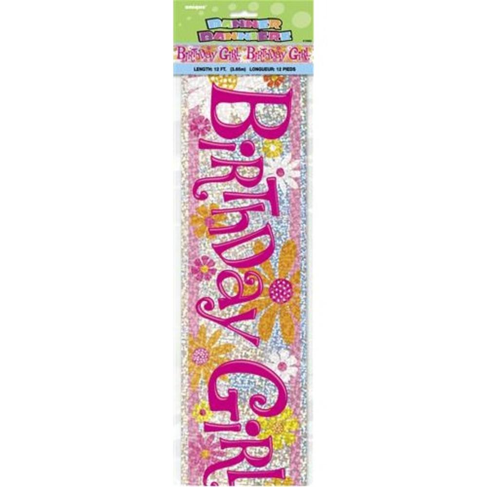 Birthday Girl 12ft Party Banner