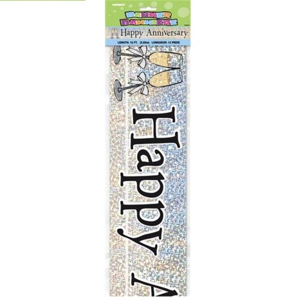 Happy Anniversary 12ft Party Banner