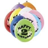 Pack of 10 Happy 2nd Birthday Party Balloons  Air Fill