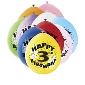 Pack of 10 Happy 3rd Birthday Party Balloons  Air Fill