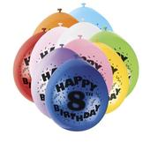 Pack of 10 Happy 8th Birthday Party Balloons  Air Fill
