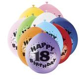 Pack of 10 Happy 18th Birthday Party Balloons  Air Fill