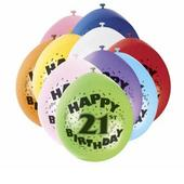 Pack of 10 Happy  21st Birthday Party Balloons  Air Fill