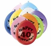 Pack of 10 Happy 40th Birthday Party Balloons  Air Fill