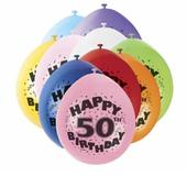 Pack of 10 Happy 50th Birthday Party Balloons  Air Fill