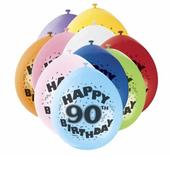 Pack of 10 Happy 90th Birthday Party Balloons  Air Fill