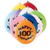 Pack of 10 Happy 100th Birthday Party Balloons  Air Fill