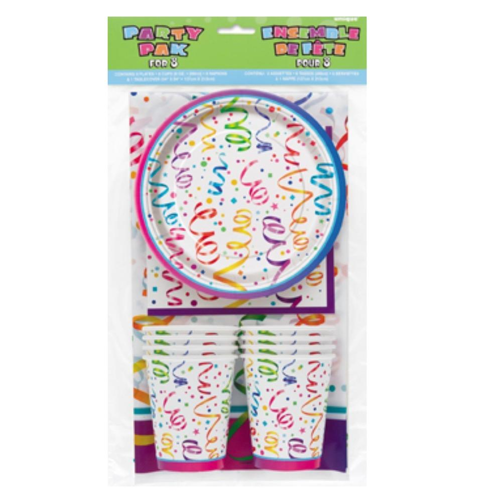 Celebrate Party Tableware Set Tablecover Plates Cups Napkins