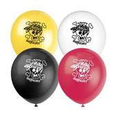 Pack of 8 Mixed Pirate Birthday Party Balloons Air Or Helium