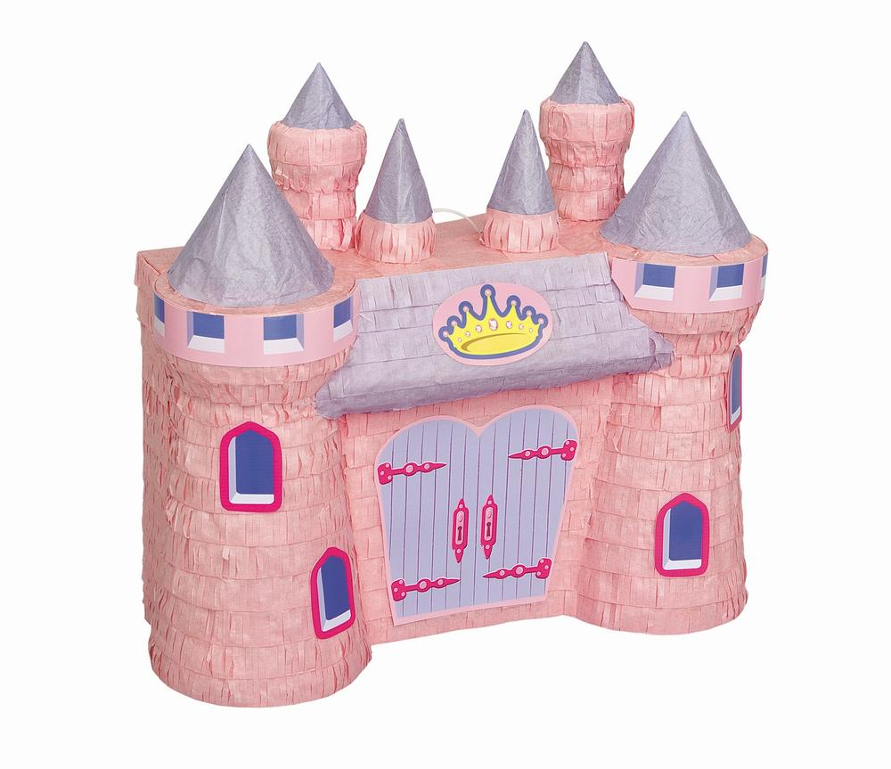 Pink Castle Pinata Traditional Pinatas Party Game