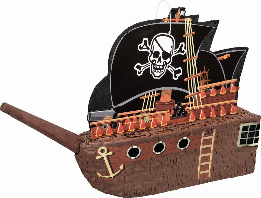 Pirate Ship Pinata Traditional Pinatas Party Game