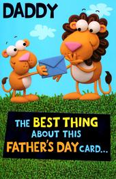 Cute Best Daddy Lion Father's Day Card