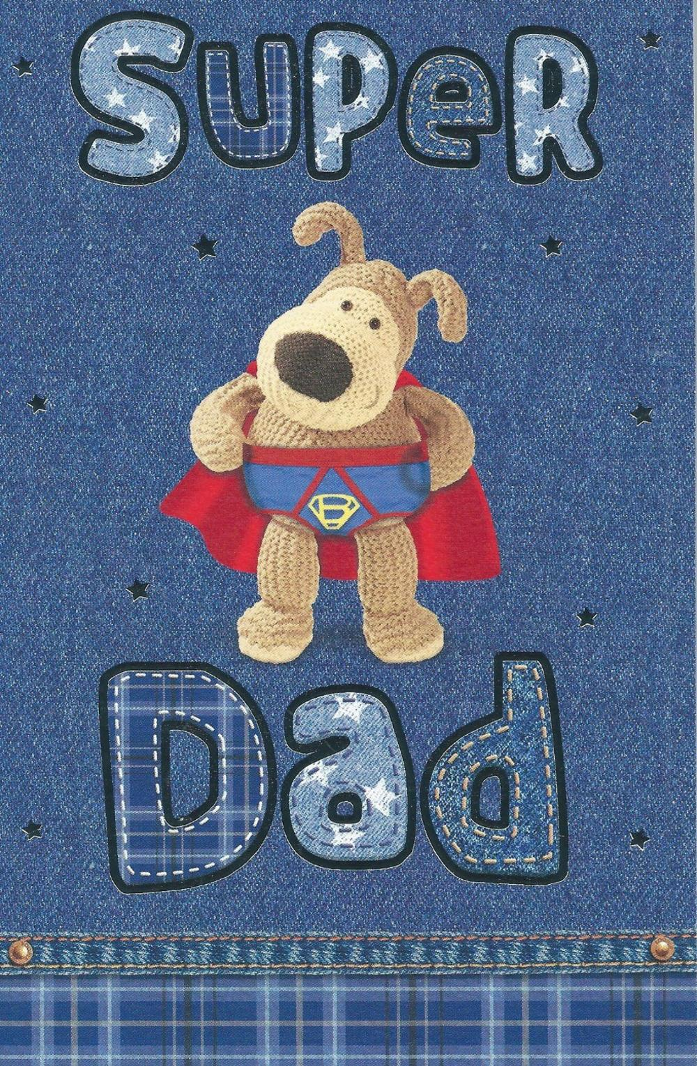Boofle Super Dad Father's Day Card