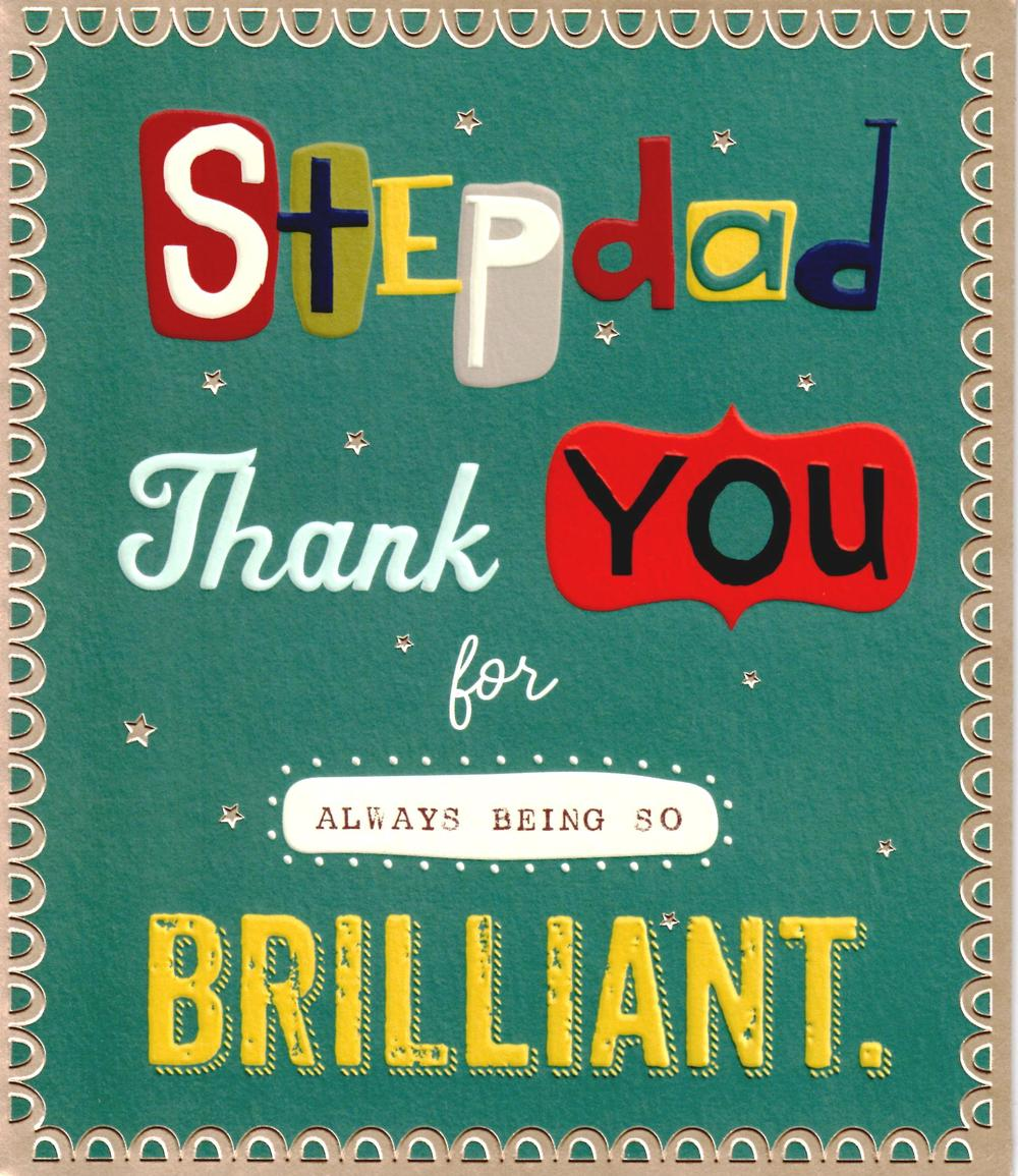 Stepdad Thank You Brilliant Father's Day Card Step Dad