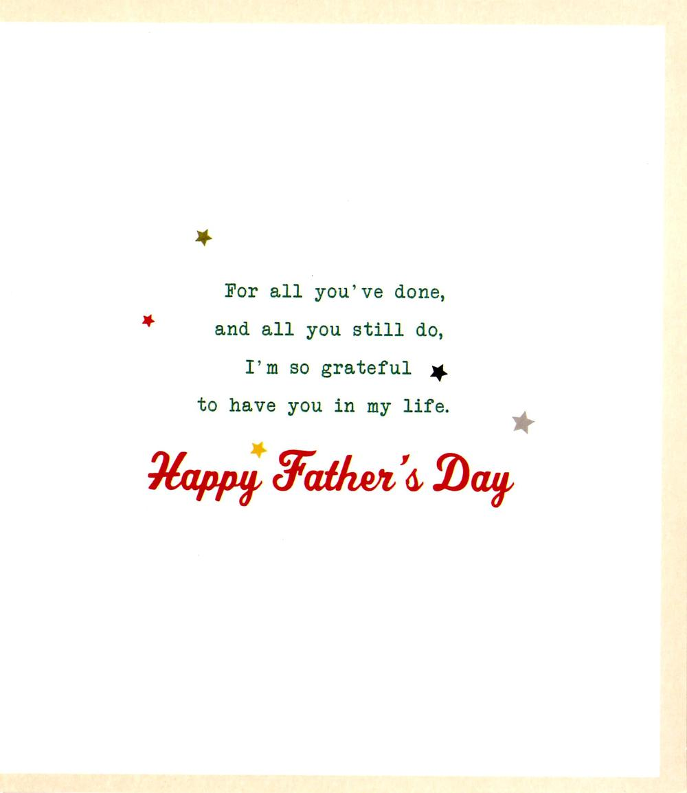 7c6a83dc Stepdad Thank You Brilliant Father's Day Card Step Dad | Cards