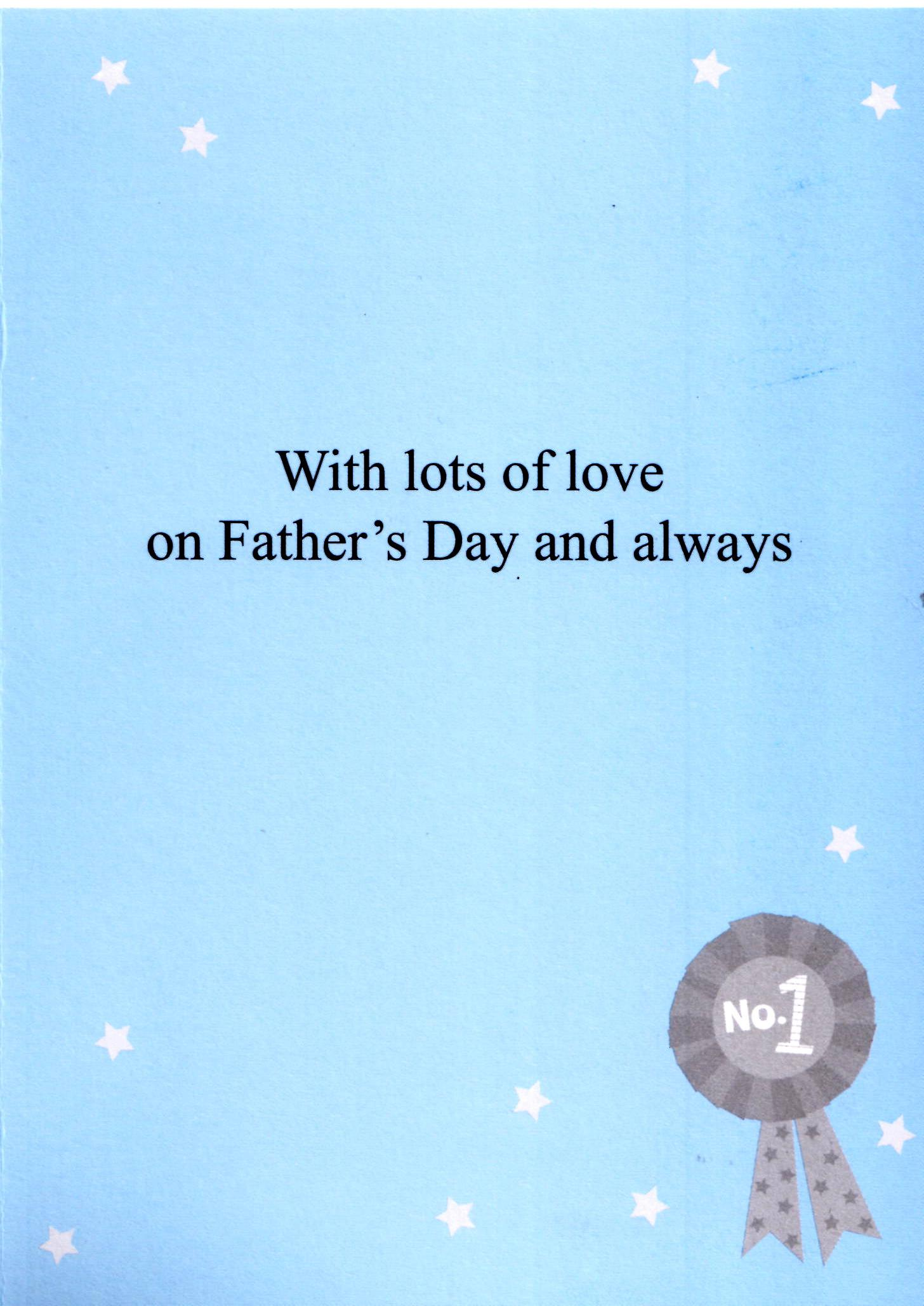 Best Dad In The World Fathers Day Card Quality Greeting Cards No1