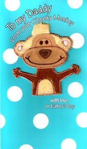 Large Furry Friend Daddy From Cheeky Monkey Father's Day Card