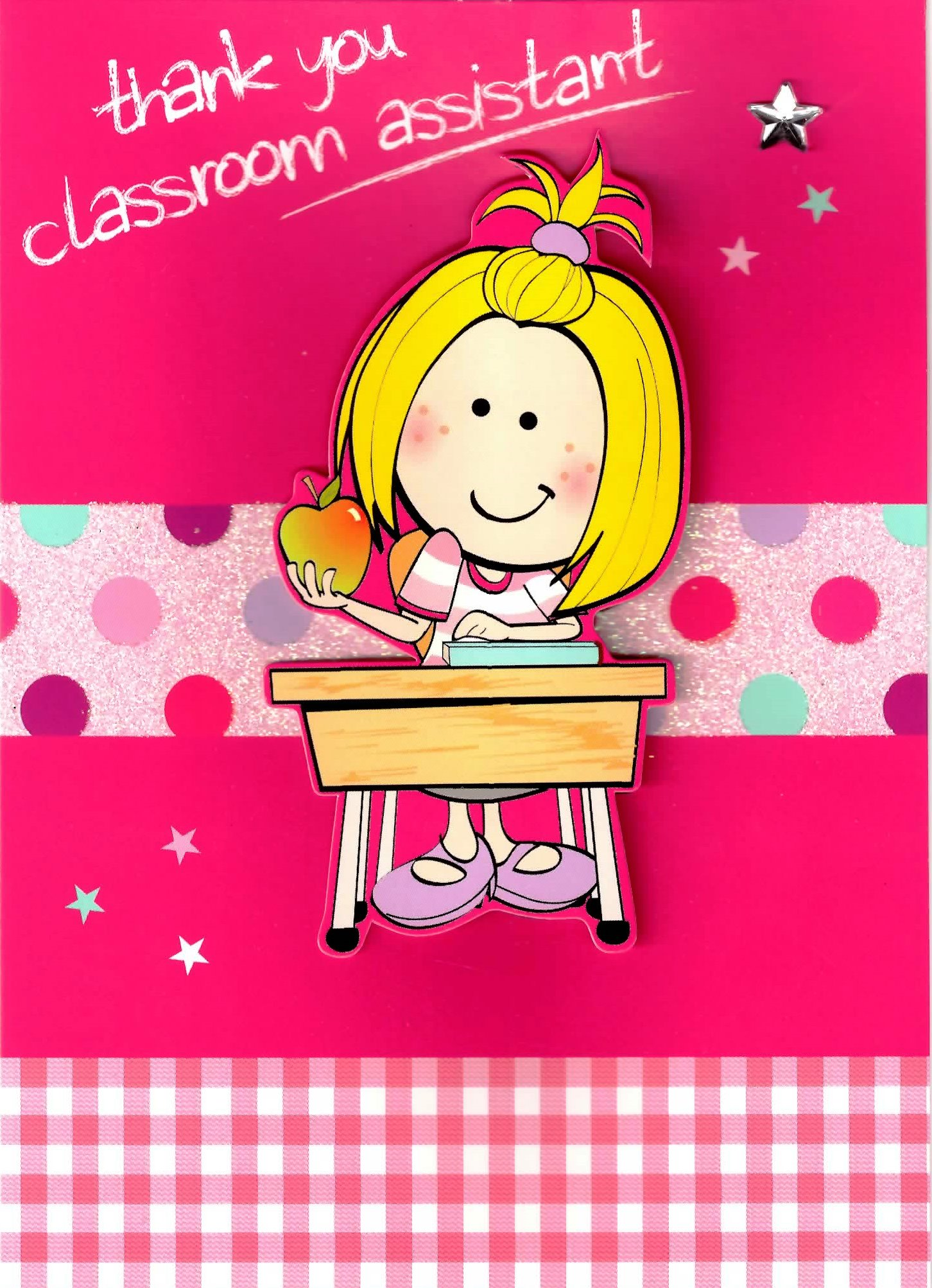 Girl Thank You Classroom Assistant Greeting Card Cards Love