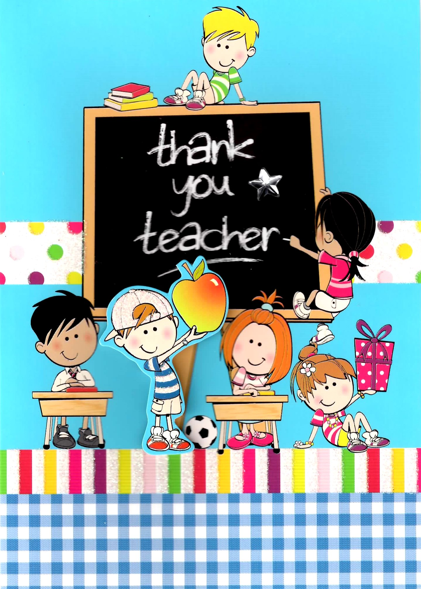 Cute 3d Thank You Teacher Greeting Card Teachers Teaching Thankyou