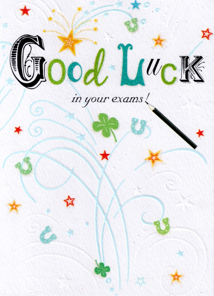Good luck in your exams greeting card cards love kates good luck in your exams greeting card m4hsunfo
