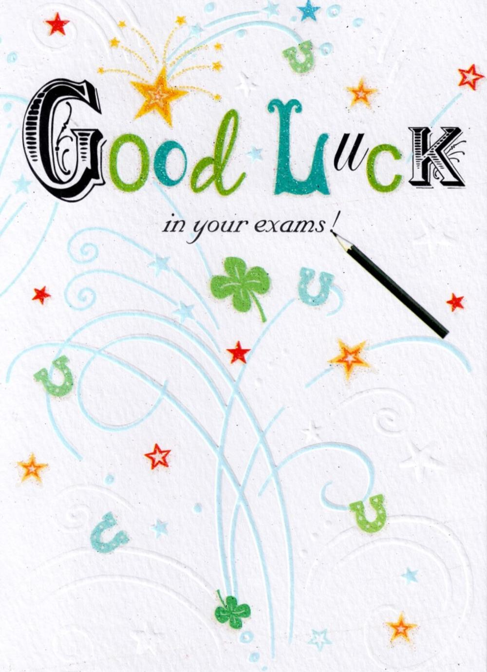 Good Luck In Your Exams Greeting Card