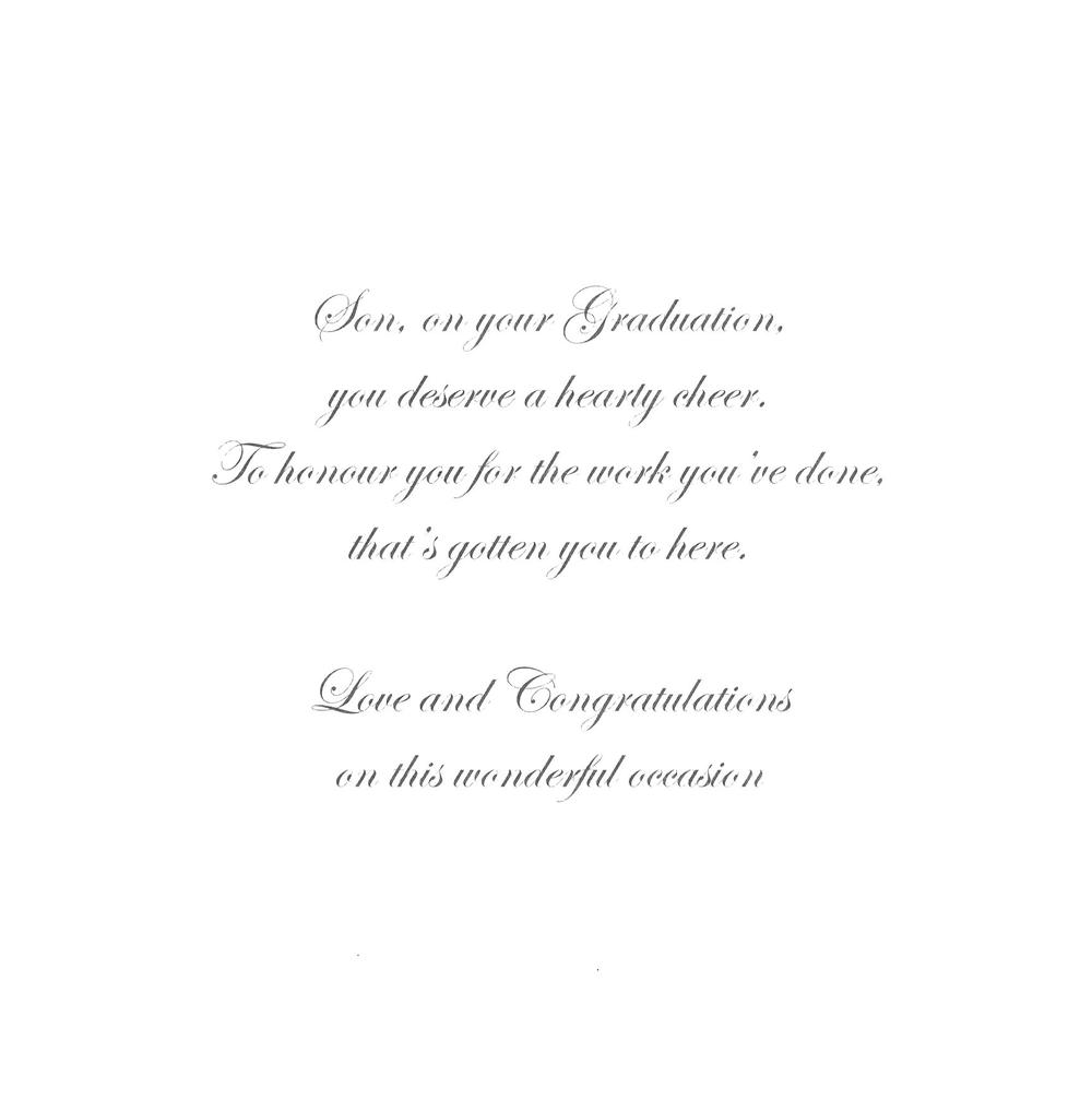 Son on your graduation congratulations greeting card cards graduation congratulations greeting card thumbnail 1 thumbnail 2 kristyandbryce Gallery