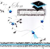 Son On Your Graduation Congratulations Greeting Card