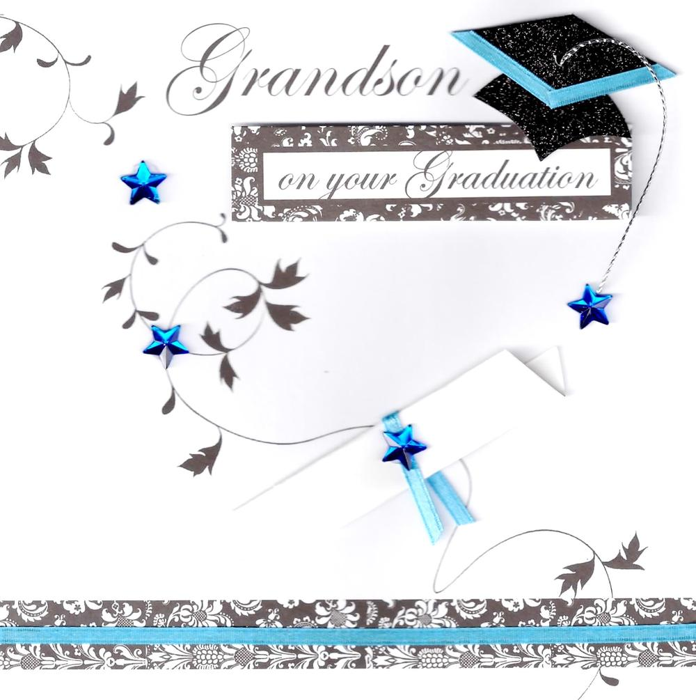 Grandson On Your Graduation Congratulations Greeting Card