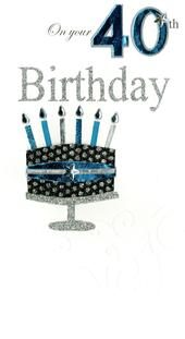 40th Special Age 40 Birthday Greeting Card