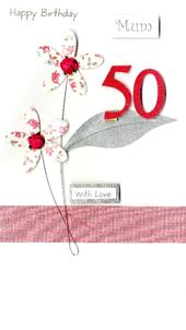 Mum 50th Special Age 50 Birthday Greeting Card