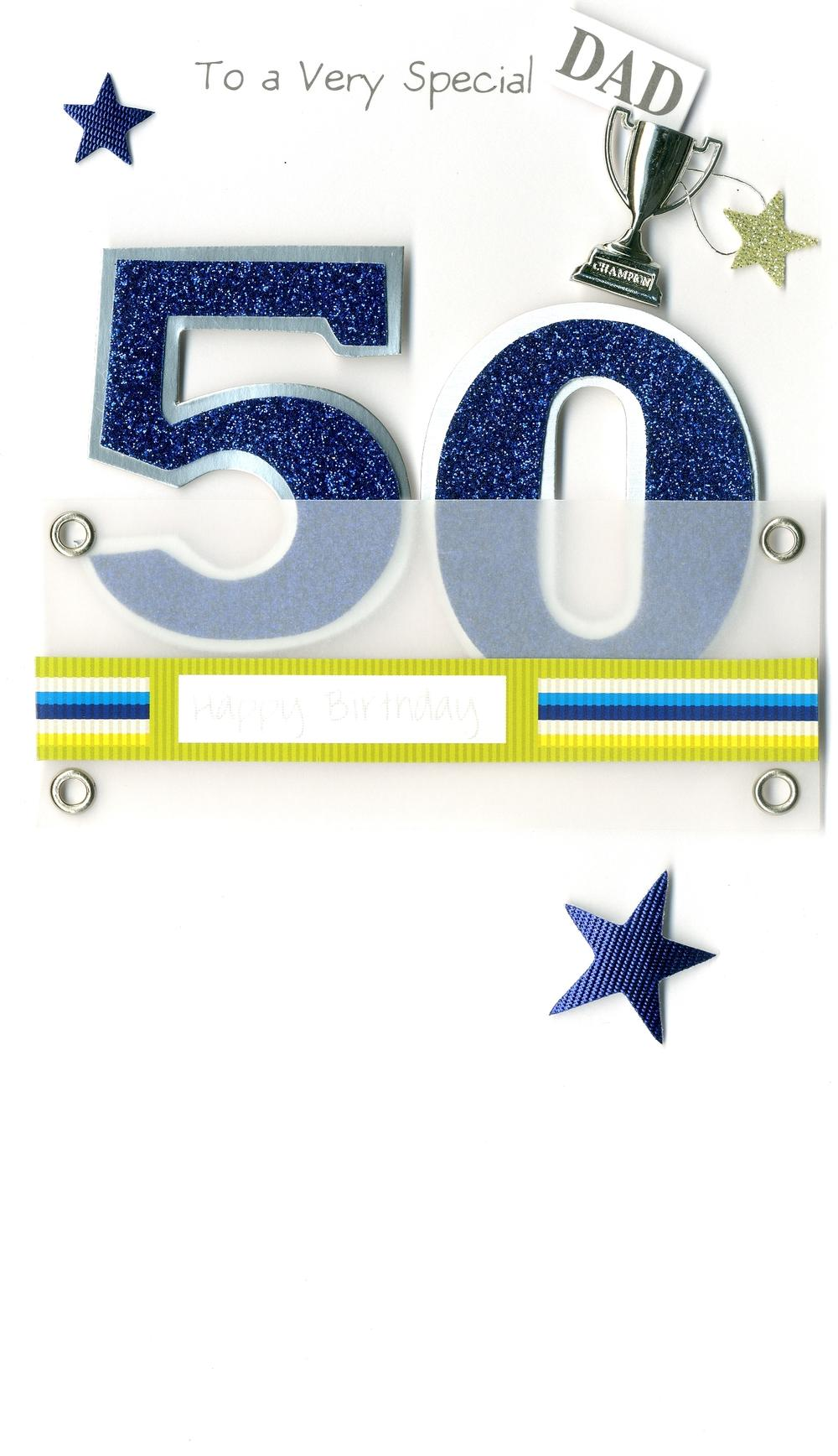 Dad 50th Special Age 50  Birthday Greeting Card