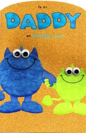 To My Daddy On Father's Day Monster Card