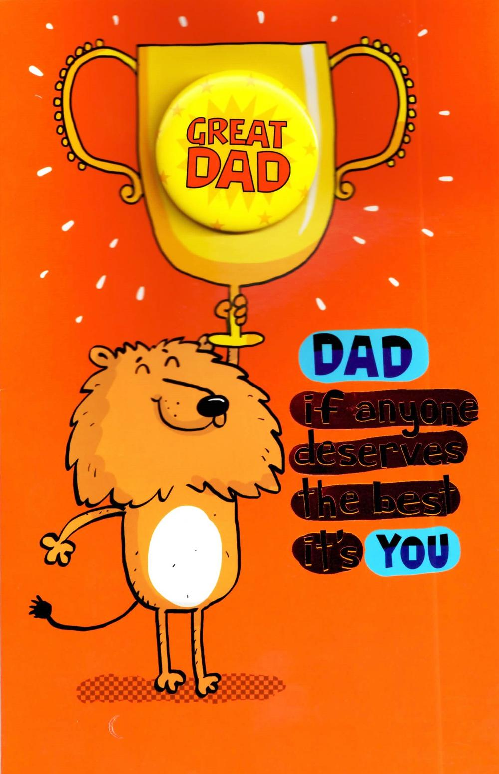 Great Dad Funny Deserves The Best  Father's Day Card