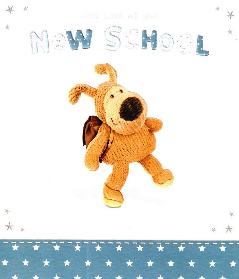 Boofle Good Luck At Your New School Card